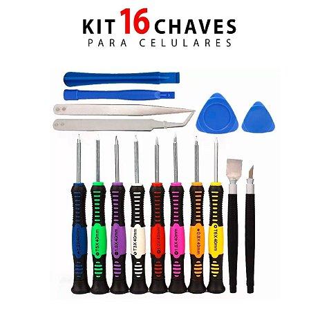 Kit de chaves para conserto de celular Pro LK-2811 16 Pçs