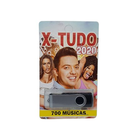 Pendrive musical 700-1000 musicas x-tudo 2020