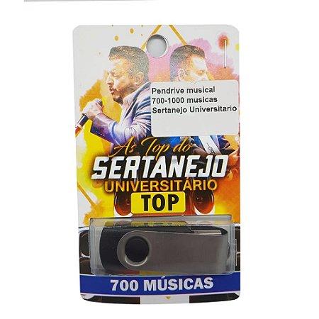 Pendrive musical 700-1000 musicas Sertanejo Universitario