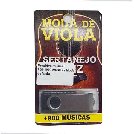 Pendrive musical 700-1000 musicas Moda de Viola