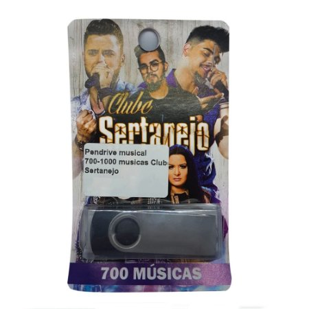 Pendrive musical 700-1000 musicas Clube Sertanejo