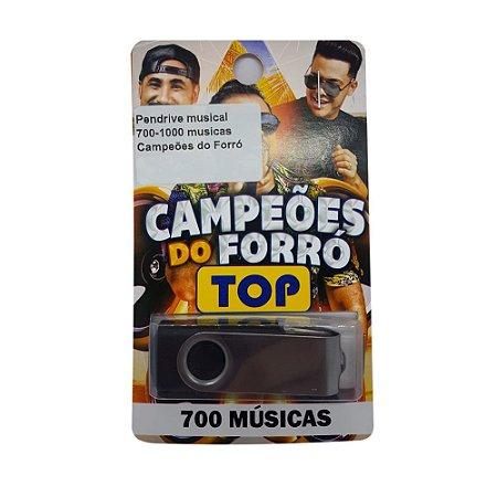 Pendrive musical 700-1000 musicas Campeões do Forró
