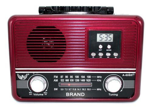 RADIO AM/FM REC  RETRÔ ALTOMEX A-6088T CARD/USB/BLUETOOTH