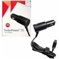 Carregador Motorola Turbo para carro 25W V-8 cabo+fonte