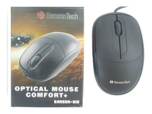Mouse Optico Confort+ Com Fio Usb Banson Tech 818