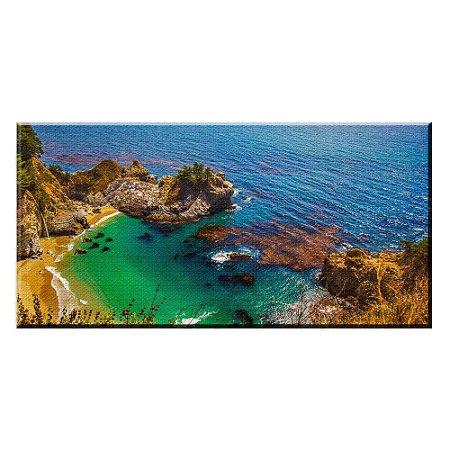 Quadro Praia California Paisagem Tela Decorativa
