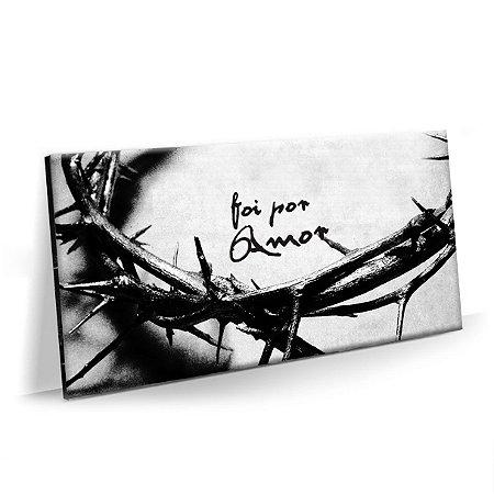 Quadro Coroa de Jesus Cristo 2 | Foi por Amor Tela Decorativa