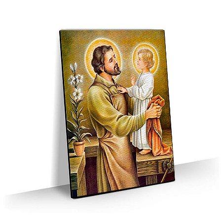 Quadro  Menino Jesus e José Tela Decorativa