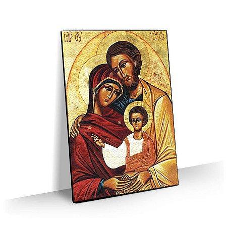 Quadro Sagrada Família Religioso Tela Decorativa