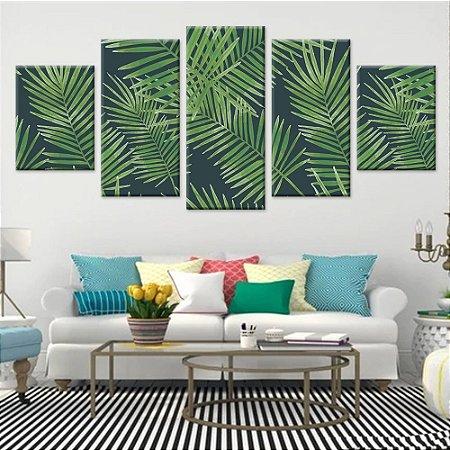 Conjunto 5 Quadros Telas Decorativas em Canvas Floral 06