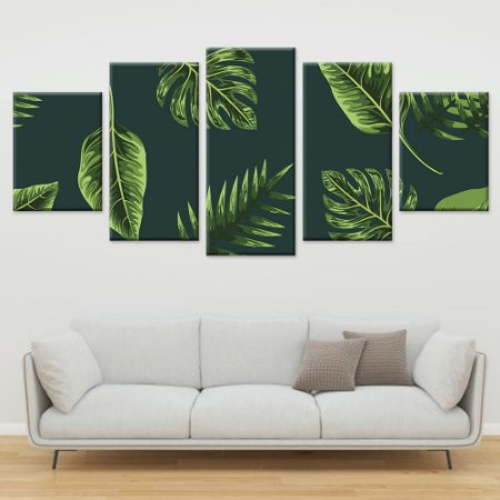 Conjunto 5 Telas Decorativas Quadros em Canvas Floral 09