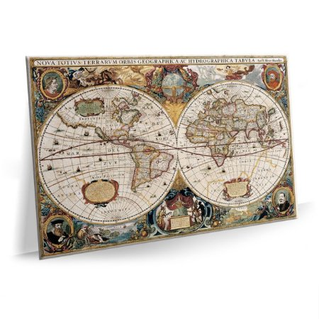 Quadro Mapa Mundi Tela Decorativa