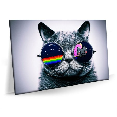 Quadro Gato Style Tela Decorativa