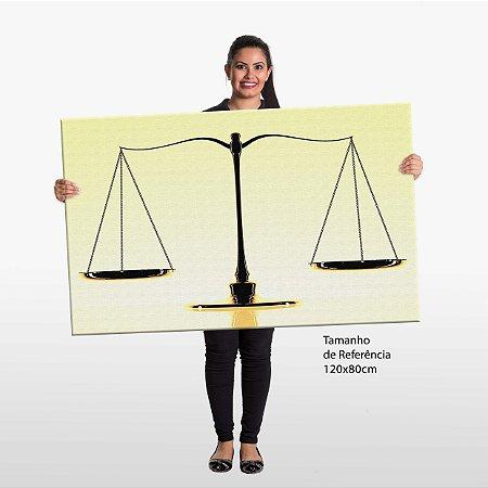 Quadro Advocacia Balança Justiça Escritório Tela Decorativa