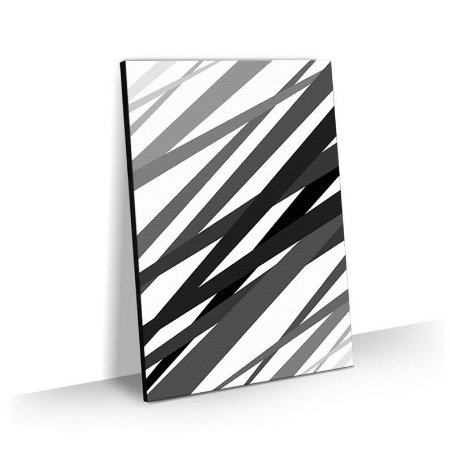 Quadro Abstrato Black Lines Tela Decorativa