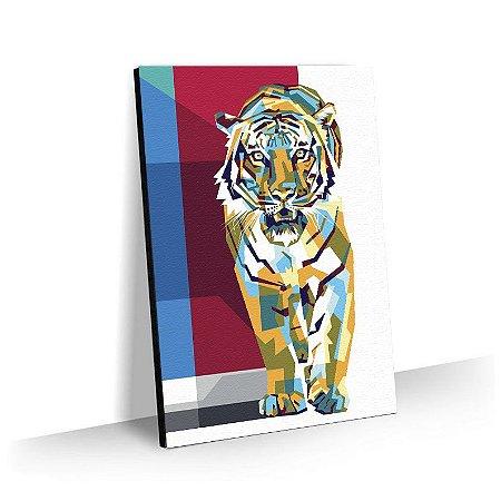 Quadro Pop Art Tigre Tela Decorativa