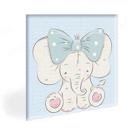 Quadro Infantil Elefantinha Tela Decorativa