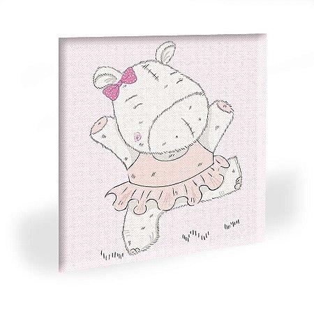 Quadro Infantil Hipopota Tela Decorativa