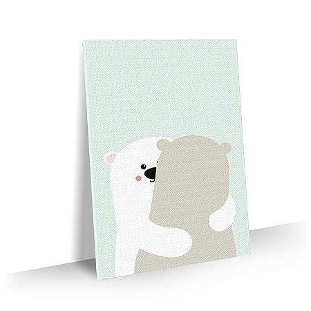 Quadro Infantil Abraço de Urso Tela Decorativa