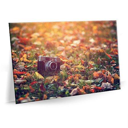 Quadro Decorativo Maquina Fotográfica Tela Decorativa
