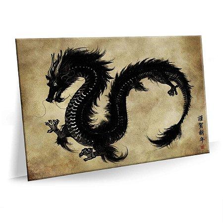 Quadro Dragão Tela Decorativa