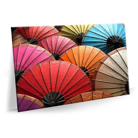 Quadro China Guarda-Chuvas Tela Decorativa