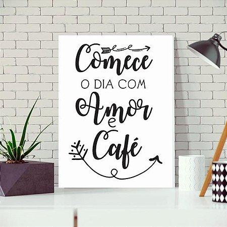 Placa Decorativa Amor Café (AL) 30X40CM