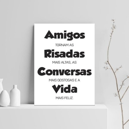 Placa Decorativa Amigos (AL) 30X40CM