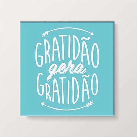 Placa Decorativa Gratidão Gera Gratidão (AL) 30x30cm