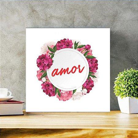 Placa Decorativa Amor (AL) 30x30cm