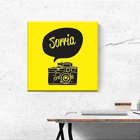 Placa Decorativa Sorria (AL) 30x30cm