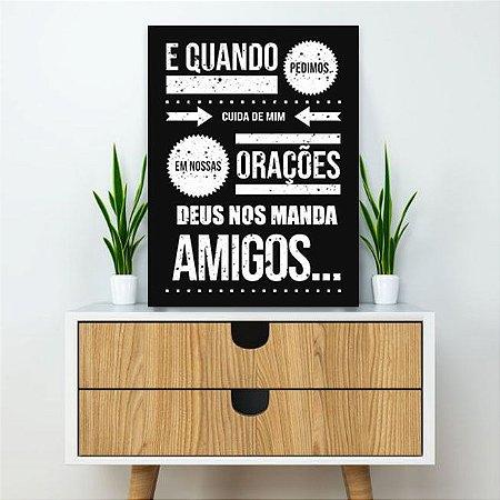 Placa Decorativa Orações e Amigos (AL) 30X40CM