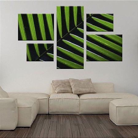 Conjunto Quadro Bambu Assimétrico em Tecido Canvas