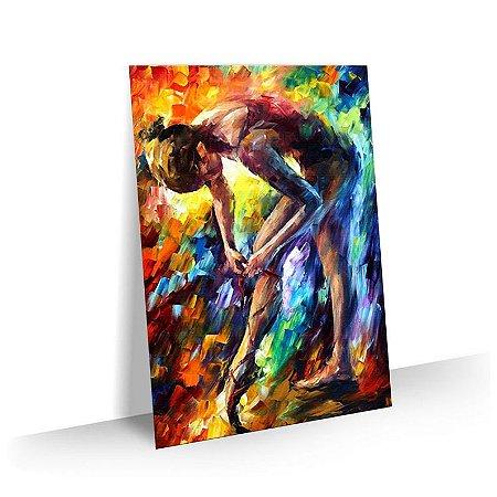 Quadro Abstrato Pintura 02 - Tela Tecido Canvas