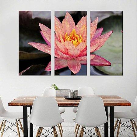 Quadro Natureza Flores Walter Lili Conjunto 3 Telas Decorativas