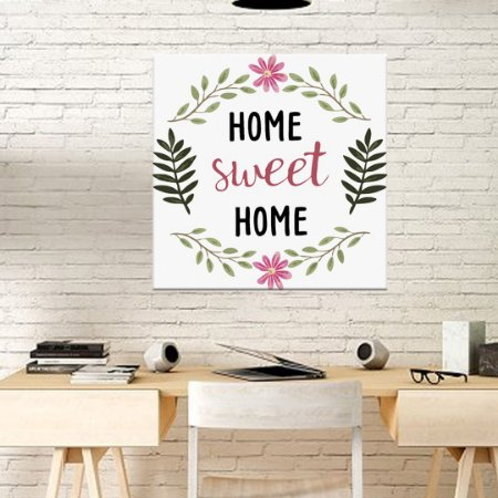 Placa Decorativa Home Sweet Home (AL) 30x30cm