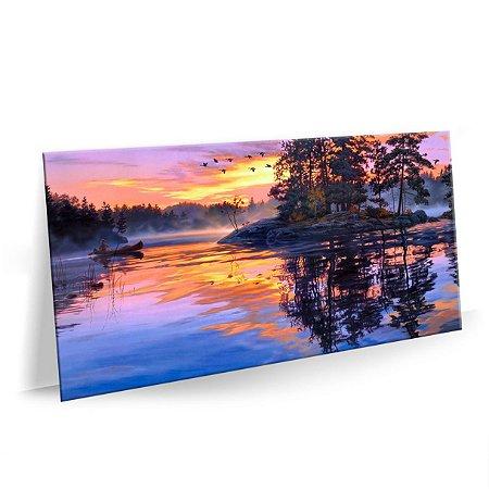 Quadro Pintura Sunset Tela Decorativa