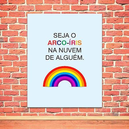 Placa Decorativa Arco Iris (AL) 30X40CM