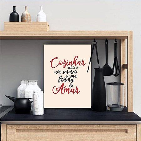 Placa Decorativa Cozinhar e Amar (AL) 30X40CM