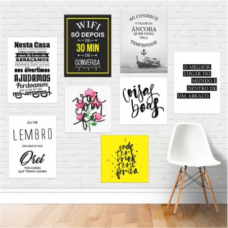 Kit 05 - Placas Decorativas