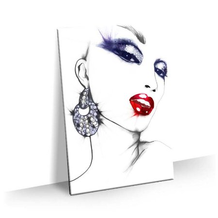 Quadro Estetica Beleza Mulher Rabiscos Tela Decorativa