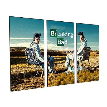 Conjunto 3 Tela Decorativa Breaking Bad