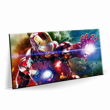 Quadro Super Heroi Homem de Ferro Tela Decorativa