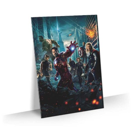 Quadro Super Heroi Vingadores Marvel