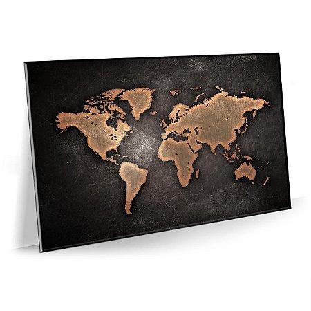 Quadro Mapa 3D Tela Decorativa