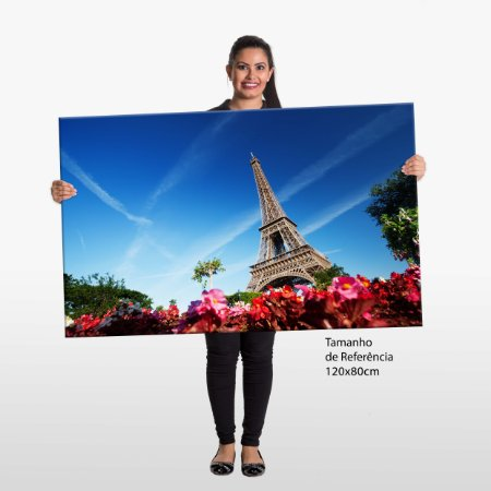 Quadro França Torre Eiffel Tela Decorativa