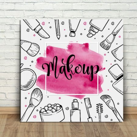 Placa Decorativa Makeup (AL) 30X30CM