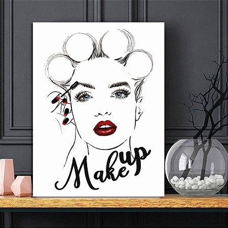 Placa Decorativa Mulher Makeup (AL) 30X40CM