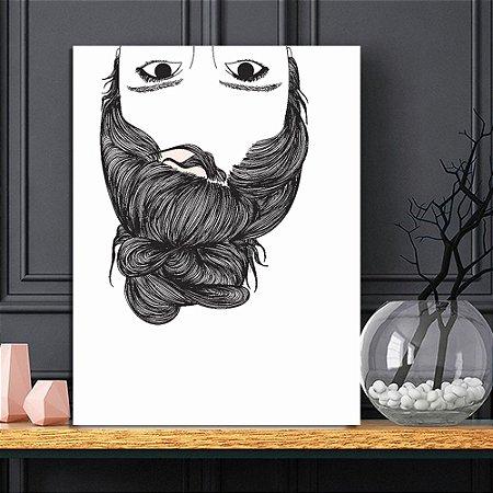 Placa Decorativa Menina Desenho (AL) 30X40CM