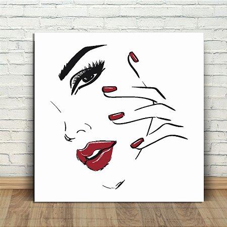 Placa Decorativa Mulher Linda (AL) 30X30CM